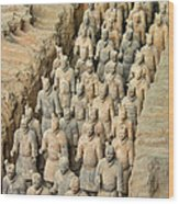 Terra Cotta Warriors Wood Print