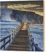 Terrace Boardwalk Wood Print