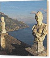 Terrace Of Infinity In Ravello On Amalfi Coast Wood Print
