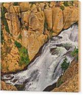 Terraced Falls Wood Print