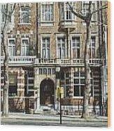 Terraced Houses In Kensington Wood Print
