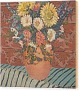 Terracota Vase Wood Print
