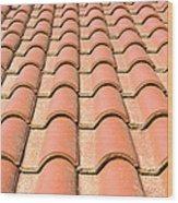 Terracotta Tiles Wood Print