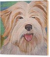 Terrier Portrait Wood Print
