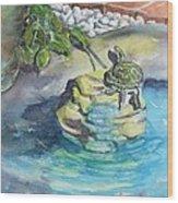 Terrific Turtle Wood Print