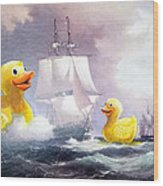 Terror On The High Seas II Wood Print