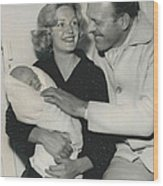 Terry Thomas Flies Here To See His Baby Wood Print