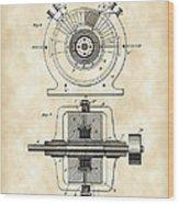Tesla Alternating Electric Current Generator Patent 1891 - Vintage Wood Print