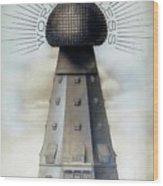 Tesla's Wardenclyffe Tower Laboratory Wood Print