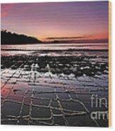 Tesselated Pavement Sunrise Wood Print