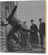 Testing Football Helmets In 1912 Ouchhhhh Wood Print