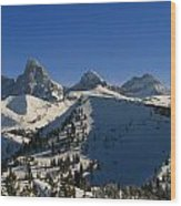 Teton Backcountry Wood Print