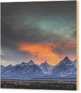 Teton Explosion Wood Print by Mark Kiver