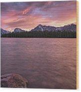 Teton Firesky Wood Print
