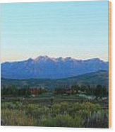 Teton Light Wood Print