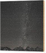Teton Milky Way Wood Print