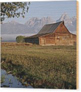 Teton Morning Magic Wood Print