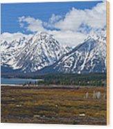 Teton Panorama I Center Panel Wood Print