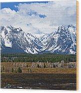 Teton Panorama I Right Panel Wood Print