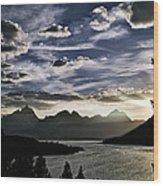 Teton Range Sunset Wood Print