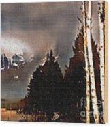 Teton Storm Wood Print
