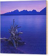 Teton Summer Sunset Wood Print by Jerry Patterson