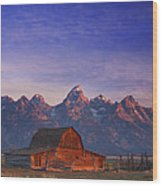 Teton Sunrise Wood Print