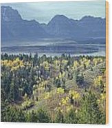 1m9209-tetons From Signal Mountain, Wy Wood Print