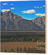 Tetons Mountians Wood Print