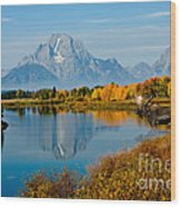 Tetons With Moose Wood Print