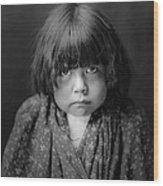 Tewa Indian Child Circa 1905 Wood Print