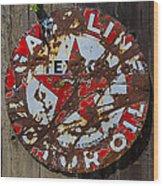 Texaco Sign Wood Print