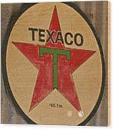 Texaco Star Wood Print