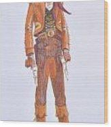 Texan Wood Print by Richard La Motte