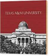 Texas A And M University - Dark Red Wood Print