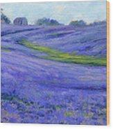 Texas Blue Wood Print