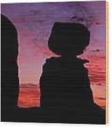 Texas Canyon Sunset Wood Print
