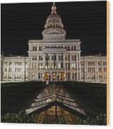 Texas Capital Building Wood Print