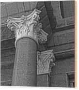 Texas Capitol Detail Wood Print
