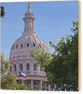 Texas Capital Dome Wood Print