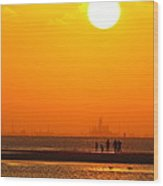 Texas City Sunset 2am-12561 Wood Print
