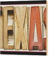 Texas Wood Print