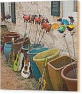 Fredericksburg Texas Alleyway Vendor Wood Print