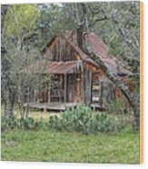 Texas Hill Country House Wood Print