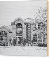 Texas Home 2 Wood Print