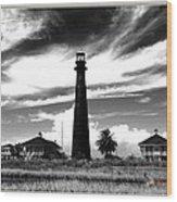 Texas Lighthouse Wood Print