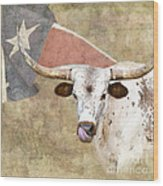 Texas Longhorn # 2 Wood Print