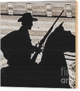 Texas Ranger Wood Print