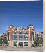 Texas Rangers Ballpark In Arlington Wood Print