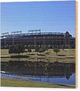 Texas Rangers Reflection Wood Print